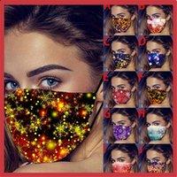 Atmosfera da vacanze inverno stampato maschera lavabile in cotone antipolvere e antivento maschera traspirante per uomo e donna T3i51546