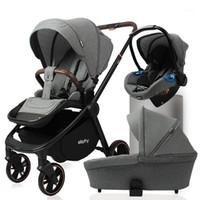Luxmom Baby Stroller Cochecito de cuatro ruedas Vista alta 2-IN-1 3-IN-1 Asiento de seguridad multifuncional Cesta de dormir1