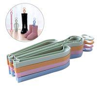 Yüksek Çizmeler Destek Raf PP Plastik Kalp Şeklinde Katlanır Boot Shaper Standları Çizmeler Diz Yüksek Ayakkabı Klip Destek Stand