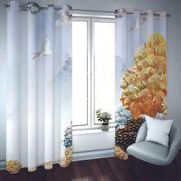 Özel Pencere Perde Oturma Odası Yatak Odası Karartma Ev Dekorasyon 3D Perde Stereoskopik Hayvan Manzara Perdeleri