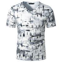 V-Col Men Summer T-shirt imprimé T-shirt Homme à manches courtes Haut Haut Sweat-shirt occasionnel Vêtements S-2XL KG-52