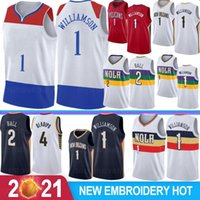 NCAA Zion 1 Williamson Lonzo 2 Ball Men Basketball Jerseys Victor 4 Oladipo RJ 9 Barrett Derrick 25 Rose S-XXL Stock 2021 New