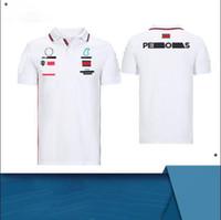 F1 Formula Bir Yaz Trendy Kısa Kollu Polo Gömlek Polyester Hızlı Kuruyan Motosiklet Yaka T-Shirt, Araba Hayranları Sokak Koşu Rider Üniforma