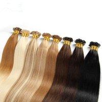 Remy pré-ligado fusão quente cabelo plana extensão de cabelo, 1g / strand 50g um pacote