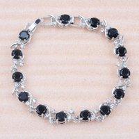 Länk, Kedja för kvinnor Ryska Stil Svart Kristall Armband Dubai Bröllop Smycken Charm Cz Kvinna Bangles 2021