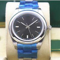 Неиспользуемые наручные часы Автоматическая 39 мм стальной браслет модели 116000 116200 114200 114300 серебряный индекс циферблат механические мужские часы