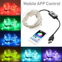 Décoration d'arbre de Noël LED lumières Smart Bluetooth Personnalisé String Lights Personnalisé Application Télécommande Lumières Dropits