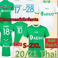 20 Maillot como santos etienne futebol jerseys 2020 2021 Maillot asse etienne khazri cabella beric nordin hamouma camisas de futebol uniforme