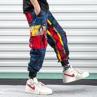 Pantalones para hombres inosossan Multi Bolsets Cargo Hombres Joggers Camoufflage Camo Monos Harajuku Streetwear Pantalones Hiphop Pants1