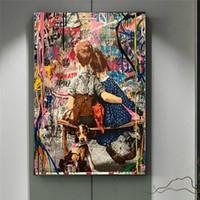 Folgen Sie Ihren Träumen Street Wall Graffiti Kunst Leinwand Malerei Poster Drucke Abstrakte Kunst Wand Bilder für Wohnzimmer Kinder Zimmer Dekor
