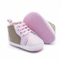 Bebek İlk Yürüteç Tasarımcı Yenidoğan Kalp Baskı Sneakers Rahat Ayakkabılar Yumuşak Taban Prewalker Bebek Bebek Spor Ayakkabı Çocuk Tasarımcı Ayakkabı