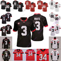 조지아 Bulldgos Football Jersey NCAA College 2 Richard LeCounte III 27 Eric Stokes 1 George Pickens 34 Herschel Walker 3 Zamir White