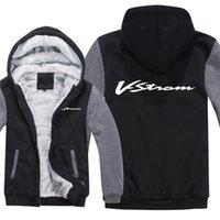 Kış Suzuki Motosiklet Hoodies Erkekler Moda Ceket Kazak Polar Astar Ceket V-Strom Tişörtü Hoody