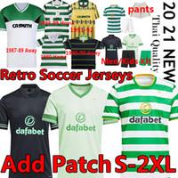 Retro Celtic 1980 87 89 91 92 98 99 Larsson Camisetas de fútbol Larsson Camisa de fútbol a casa Edouard Brown Duffy Klimala Forrest Hombres Niños Uniforme