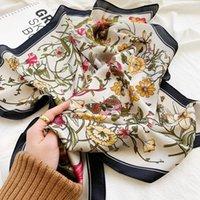 Scarves 70*70cm Fashion Handkerchief Neck Scarf For Women Small Shawl Silk Satin Hair Scarfs Female Square Headband Bandana Head