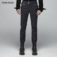 Punk Rave Hombre Steampunk Retro Pantalones Góticos Party Realizar Hombres Pantalones largos Partido de la noche Formal1