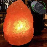 Gloednieuwe Premium Kwaliteit Himalaya Ionische Crystal Salt Rock Lamp met Dimmer Kabel Switch UK Socket 1-2KG - Natural Night Lights