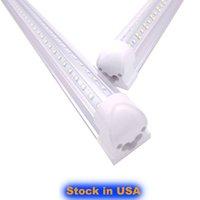 LED 샵 라이트, 쿨 화이트 6000K, V 모양, 클리어 커버 밀키 커버, T8 LED 튜브 조명 2FT 3FT 4FT 5FT 6FT 8 피트 미국