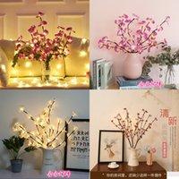 Objetos decorativos Mariposa Orquídea Cerezo Luces de color Dormitorio Decorar LED Lámpara Árbol Luz Original Rama Noche Productos de luz 11 58hh J2