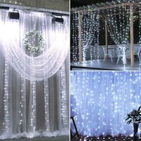 18m x 3m 1800-LED Luces de cuerda blanca cálida Romántica Navidad Boda al aire libre Alto Brillo Decoración de la luz de la cortina