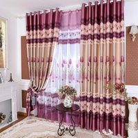 American Printing Shading Curtains for Living Dining Room Be...