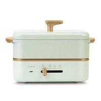 220V elétrico cozinhar pote portátil lancheira elétrica tipo tipo multicooker arroz fogão hotpot frigideira frita 0,8l1