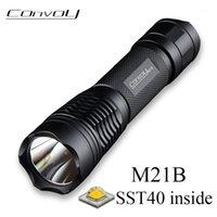 Torchlights torce convoglio M21b con Luminus SST40 LED Lantern S2 + 21700 Versione Torch Torch Lanterna Camping Pesca Bici da lavoro Light1