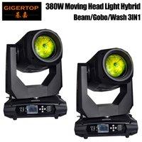Freeshipping 2 Enheter Moving Head Light 380W Färg 20/24 Kanal DJ Light Gobo Pattern Effect Light DMX-512 för Party Disco DJ Visa KTV
