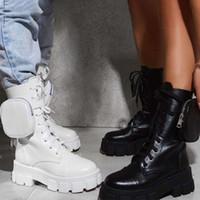 المرأة جيب الدانتيل يصل السيدات الكاحل الإناث القتالية الجيش أحذية مكتنزة كعب سستة قصيرة التمهيد امرأة منصة الأحذية الجديدة