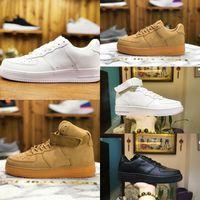 Nike Air Force 1 one airforce Shoes Hommes Chaussures De Planche À Roulettes Bas Pas Cher Un Unisexe 1 Tricot Euro Air Haute Femmes Tout Blanc Noir