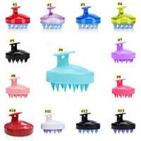 Silikon-Shampoo-Bürsten-Shampoo-Kopfhaut-Massage-Bürste Silikon-Haar-Waschkammkörper-Bäder SPA Slimming-Massage-Bürstenwäscher RRE543