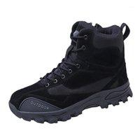 Homens deserto botas táticas masculinas ao ar livre à prova d'água de caminhada sapatos sapatilhas mulheres desgaste desgaste de esportes Botas de combate # YL51