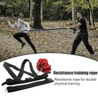 Training Pull Rope Running Stretch Force Double Resistance Band Jumping Belt Set for Easy Safety Working-out Ornaments