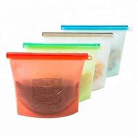 1000 ملليلتر قابلة لإعادة الاستخدام فراغ سيليكون الغذاء حقيبة الطازجة الحليب حليب الفاكهة أكياس تخزين اللحم الثلاجة الغذاء تخزين حقيبة