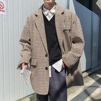 Ternos Masculinos Blazers 2021 Casacos de Alta Qualidade Lattice Impressão formal de lã formal Conjunto de casacos roupas Único roupas ocidentais Casuais Bla
