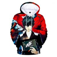 Erkek Hoodie Anime Persona 5 Hoodie Kazak Ren Amamiya 3D Baskılı Kazak Kazak Ceket Ceket Kostüm1