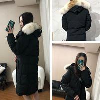Lesther Canadian Parka Jassen Camuflaje Outerwear Outerwear Big Real Wolf Fur Fur Capucha Mujer Abrigo Capa de Invierno Chaqueta Outlet Alta Calidad