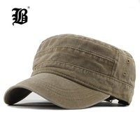 Cappelli larghi [FLB] 2021 Classic Vintage Top Flat Top mens tappi lavati e cappello regolabile aderente berretto più spesso inverno inverno per menf3141