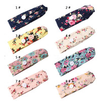 Yoga Headbands with Button Floral Sports Headband Elastic Pr...