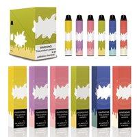 사용자 정의 스티커 6 색 POCO 듀얼 일회용 vape 펜 스타터 키트 6ml 포드 2000 퍼프 900mAh 배터리 전자 Cig vape 2 색 1 키트
