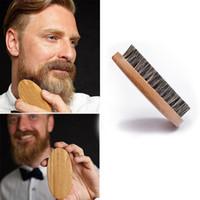 Erkekler için Doğal Domuzu Kıl sakal fırçası Bambu Yüz Masajı Sakalları ve Bıyıklar RRE2916'yı taraklıdır.