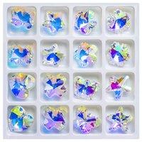 Andere Zhubi Shiny AB Farbe Österreich Kristall Charms Anhänger Perlen 14mm Glas Lose Spacer Für DIY Machen Schmuck Handarbeit Zubehör