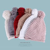 Winter Warm Chenille Pompom Hats Girls Boys Fashion Ski Beanies Cap Women Wool Knitted Skullies Caps Kids Thick Pom Pom Hat