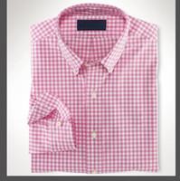 새로운 패션 작은 말 옥스포드 남성 셔츠 긴 소매 망 드레스 셔츠 고품질 망 비즈니스 셔츠 폴로 chemise homme