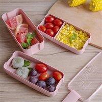 Lancheira 3 Camada 900ml Boxes Bento Microondas Dinnerware Rosa Recipiente de Alimentos Lancheira com Colheres e Forks Kitchen Acessórios 201015
