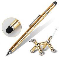 أقلام هلام 2021 القلم المغناطيسي القلم المعادن المغناطيس وحدات التفكير الحبر لعبة الإجهاد fidgets مؤخرات التركيز التركيز اليدين اللمس عيد الحب هدية 1