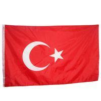 Pavo Turco País National Banders Banners 3'x5'ft 100d Polyester Hot Sales de alta calidad con dos ojales de latón