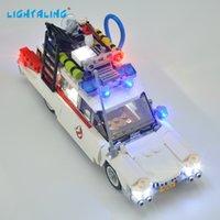 Hafif Ghostbusters Için LED Işık Kiti ECTO-1 Oyuncaklar Ile Uyumlu 21108 Yapı Taşları Tuğla USB Şarj Y1130