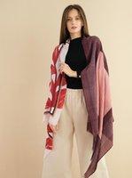 여자를위한 따뜻한 목도리 브롱링 큰 나뭇잎 꽃 인쇄 오버 사이즈 200x85cm 오리지널 디자인 패션 우아한 레이디 겨울 스카프