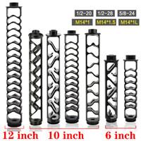 """Spirale de 6 """"10 pouces 1 / 2-28 5/8-24 Noir Noir Tube en aluminium Noir Filtre à carburant Solvant Piège de solvant pour NAPA 4003 WIX 24003 Filtres"""